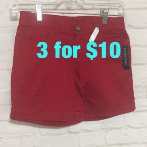 NWT red shorts size 10 fades glory